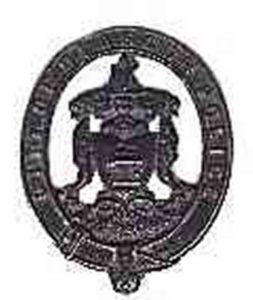 Glasgow helmet badge 1880-1912
