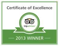 Tripadvisor Certificate of Excellence 2013